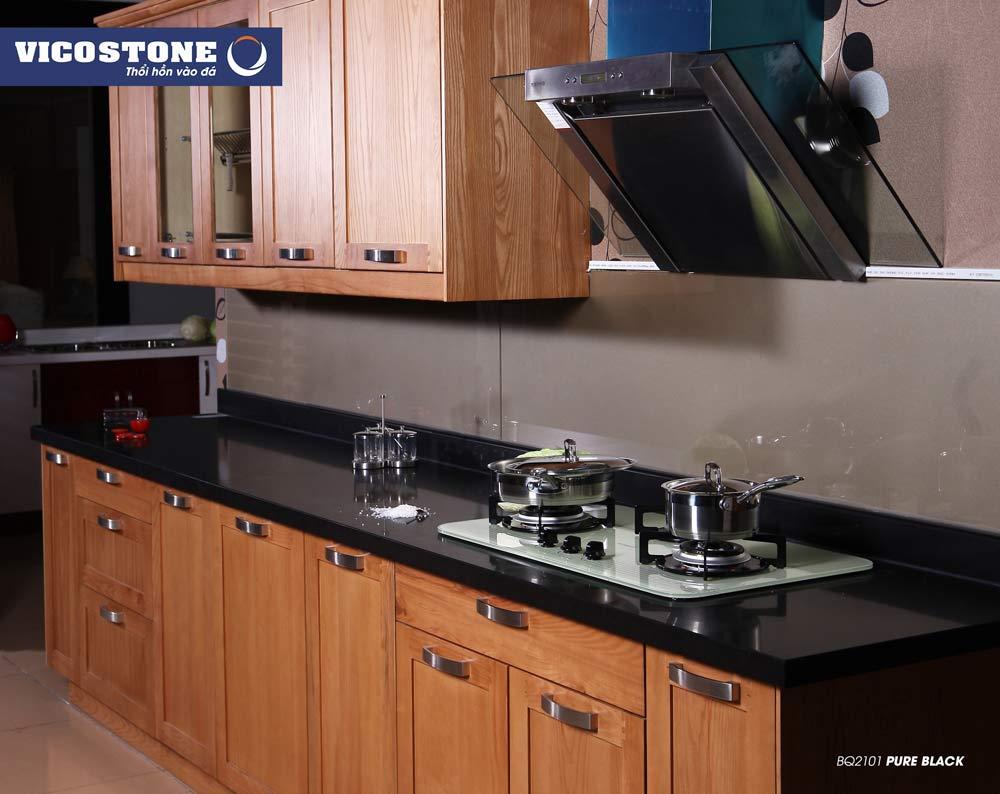 Mẫu đá ốp bếp màu đen Mẫu đá PURE BLACK BQ2101