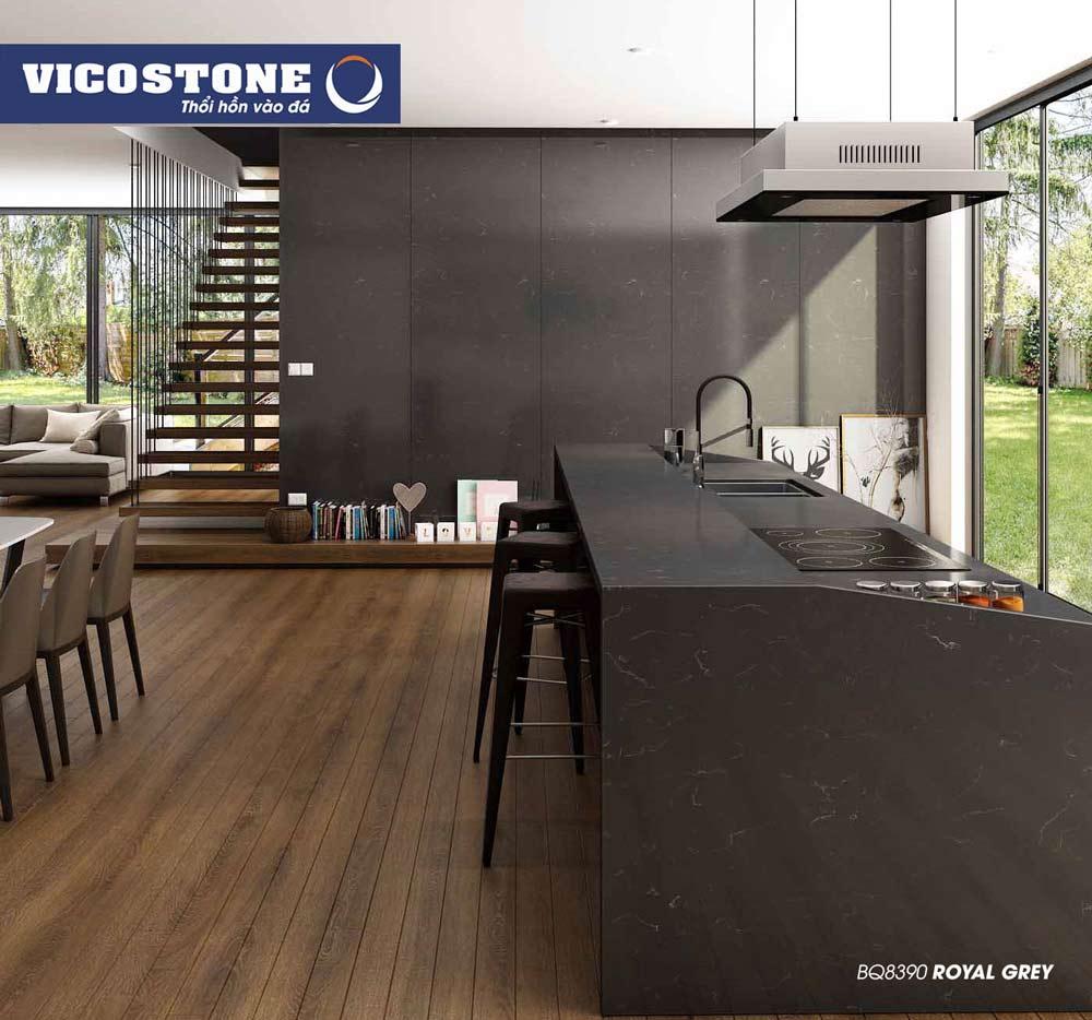 Mẫu đá bàn bếp màu đen độc đáo ROYAL GREY BQ8390