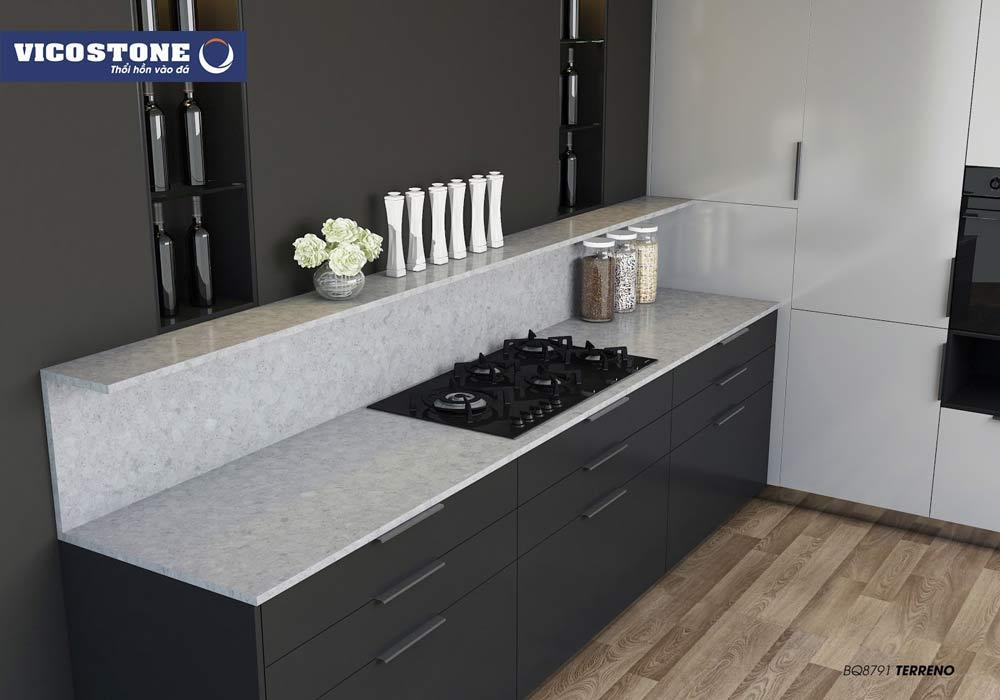 Sản phẩm đá bàn bếp VICOSTONE an toàn khi sử dụng